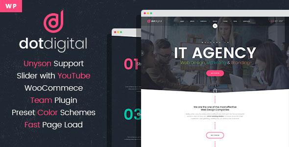 Download Free Dotdigital V1 0 0 Web Design Agency Wordpress Theme Download Free Themes